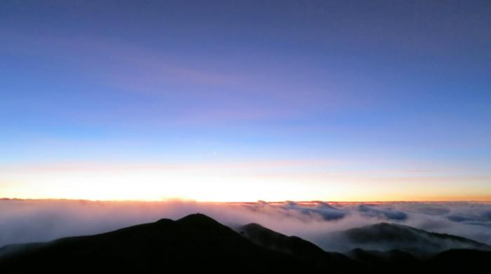 Ceiling of clouds (view from Mt. Pulag's peak)