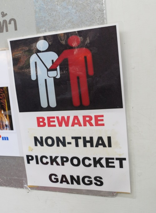 """Um...So Thai pickpocket gangs are okay then?"""
