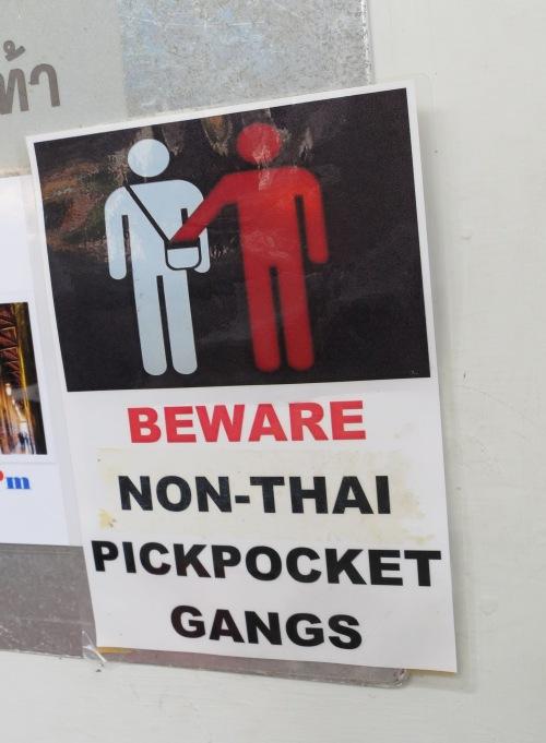 """Um...So Thai pickpocket gangs are okay then?"""