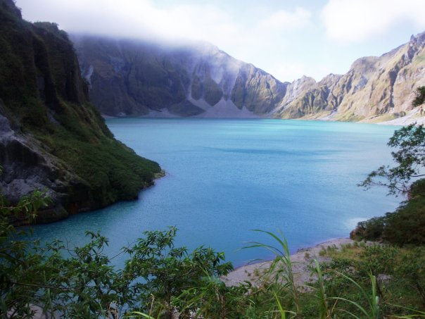 The peak of Mt. Pinatubo